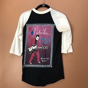 Vintage Neil Young band t shirt raglan